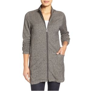 Eileen Fisher Hemp & Cotton Stand Collar Jacket